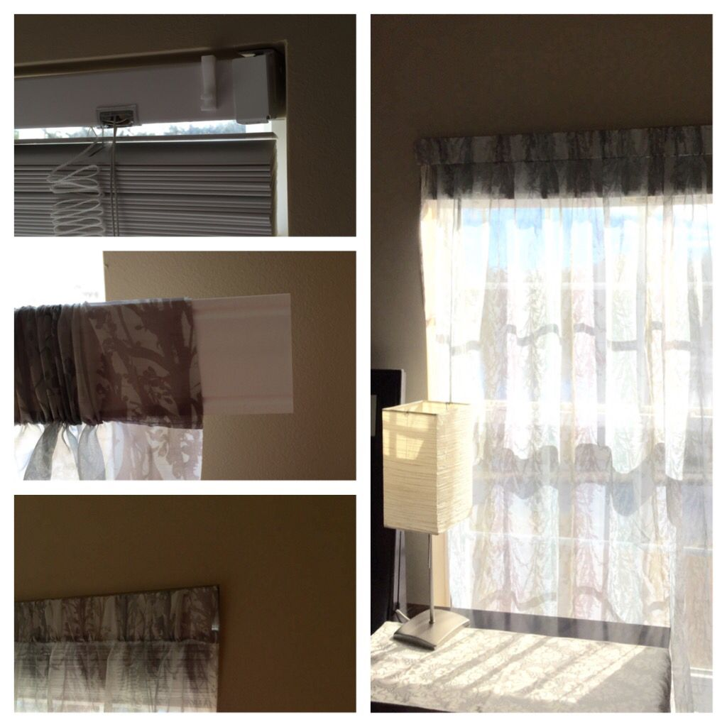 Hanging Curtains Without Any Kind Of Curtain Rod And Other