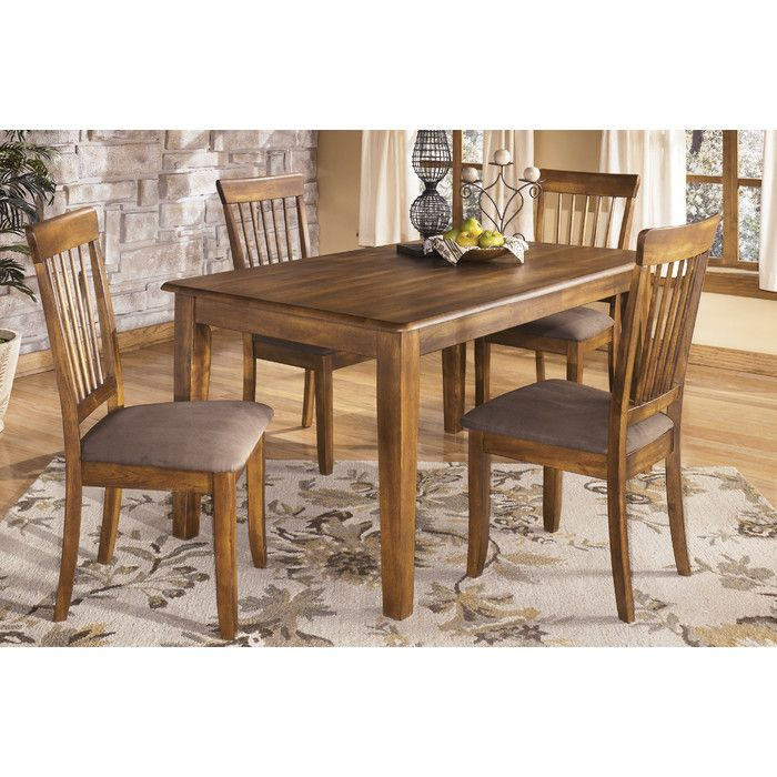 Loon Peak Kaiser Point 5 Piece Dining Set & Reviews  Wayfair Classy Small Rectangular Kitchen Table Inspiration Design