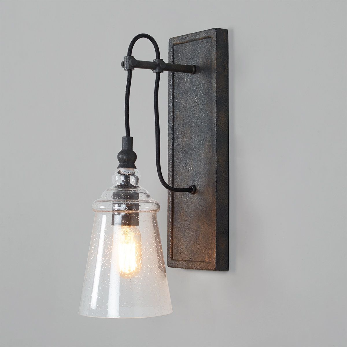 Historic Industrial Seeded Sconce In 2021 Rustic Wall Lighting Rustic Wall Sconces Industrial Wall Sconce Rustic wall light fixtures