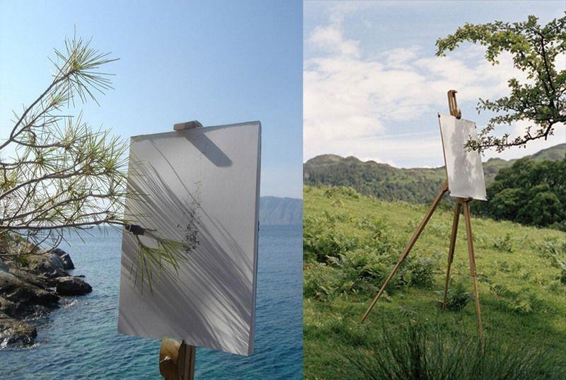 Tim Knowles: Nechajte stromy kresliť