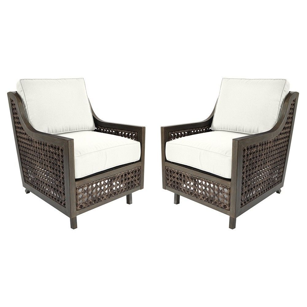 fabron 2 pk wicker motion patio club chair linen threshold rh pinterest co uk