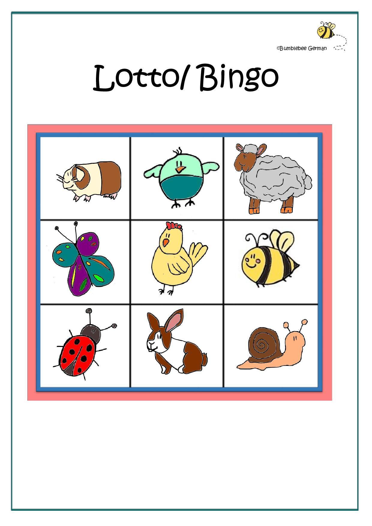 Animal Lotto Page 001