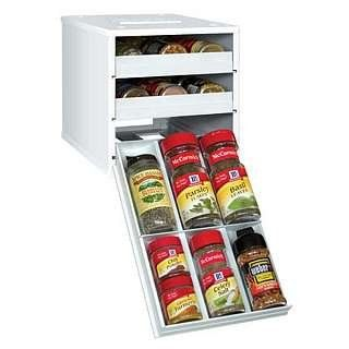 Amazon Com White Classic Spice Stack 24 95 Spice Organization Spice Rack Storage Spice Bottles