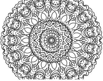 Kaleidoscope Pattern Coloring Pages Doodle Flower Coloring Page