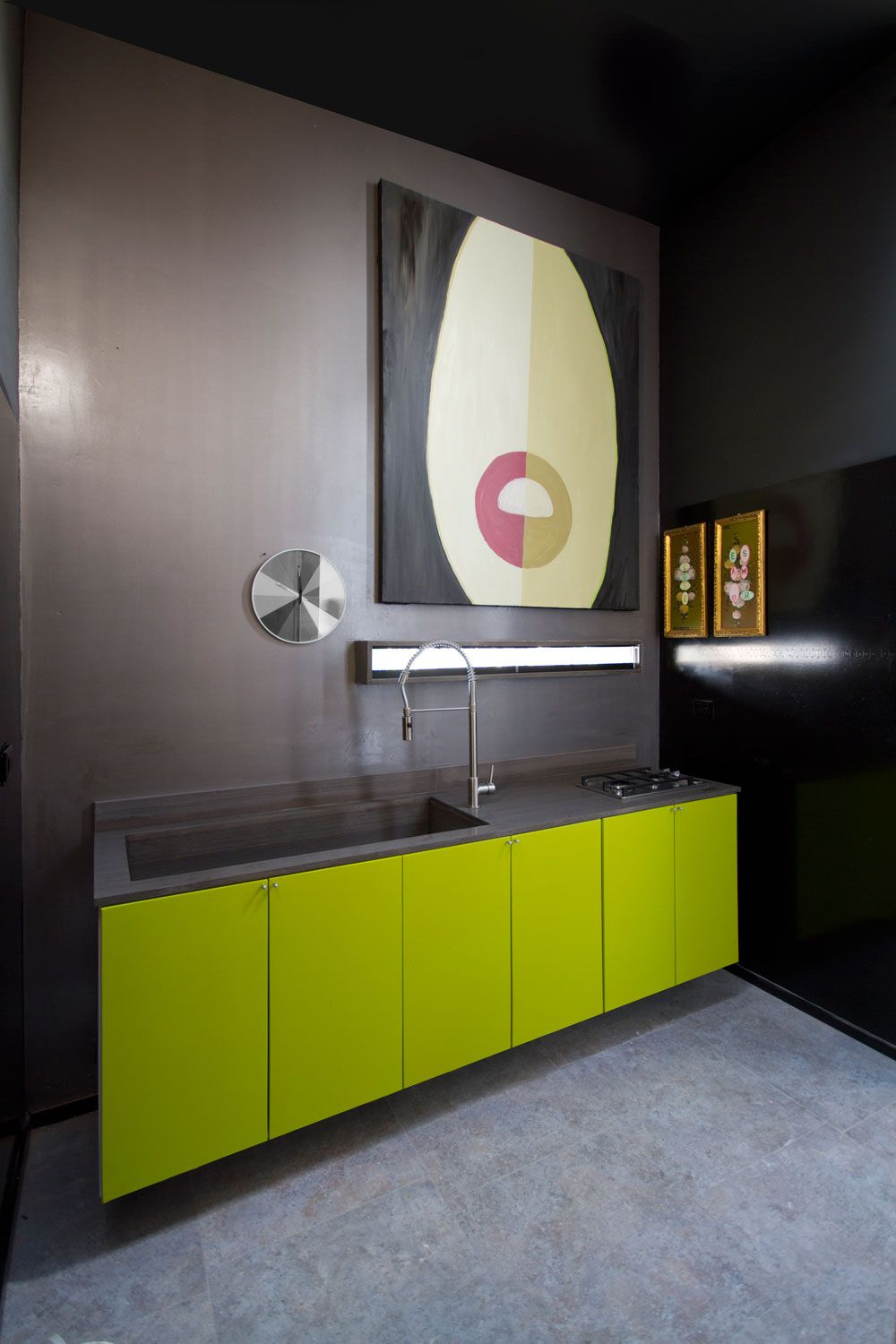 Best Lime Green And Grey Kitchen שילוב צבעים מדליק עם אפור 400 x 300