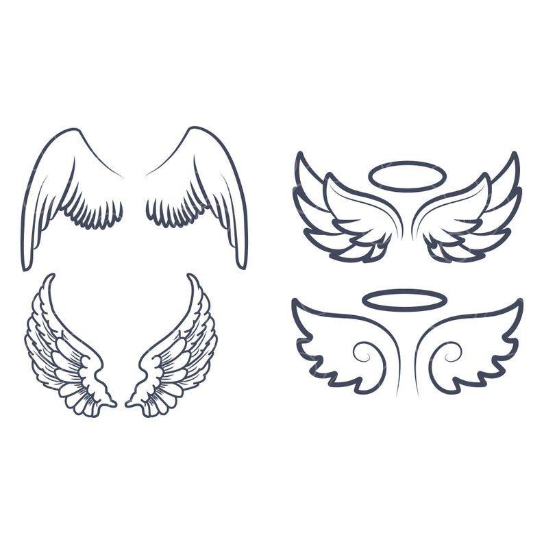 Cute Angel Wings Svg Angel Wing Svg Angel Svg Angel Wings Etsy Angel Wings Tattoo Small Angel Wing Tattoo Small Angel Tattoo