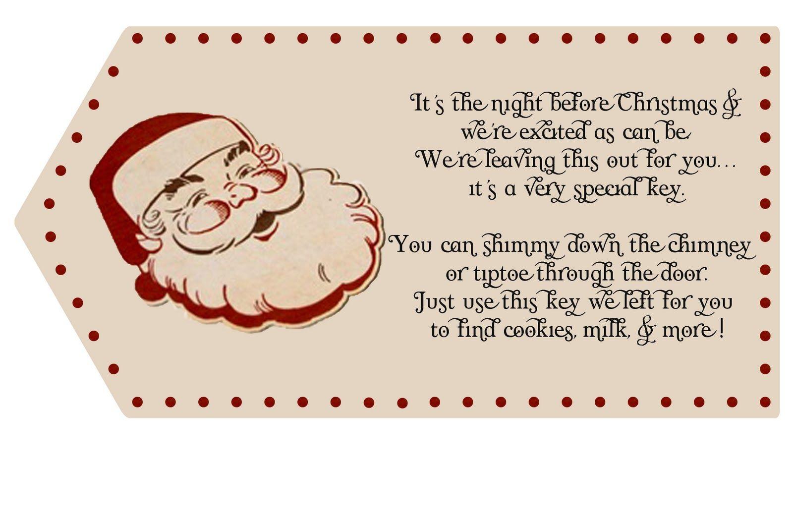 Activity Santas Magic Key Poem Sticker with play set Key
