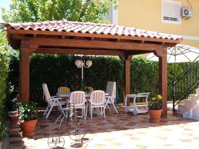 Resultado de imagen para pergolas con tejas ideas casas for Modelos de techos con tejas