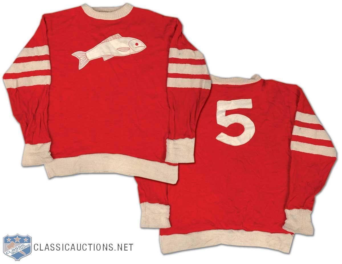 1920s Selkirk Fishermen wool hockey sweater. Awesome!  59e5677da