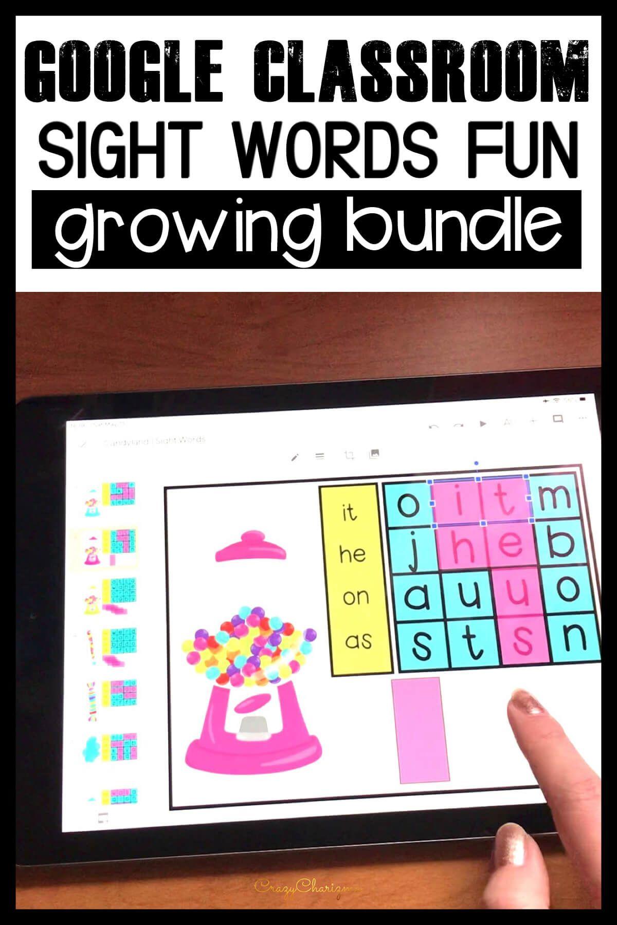 Digital Word Work Sight Word Games For Kindergarten