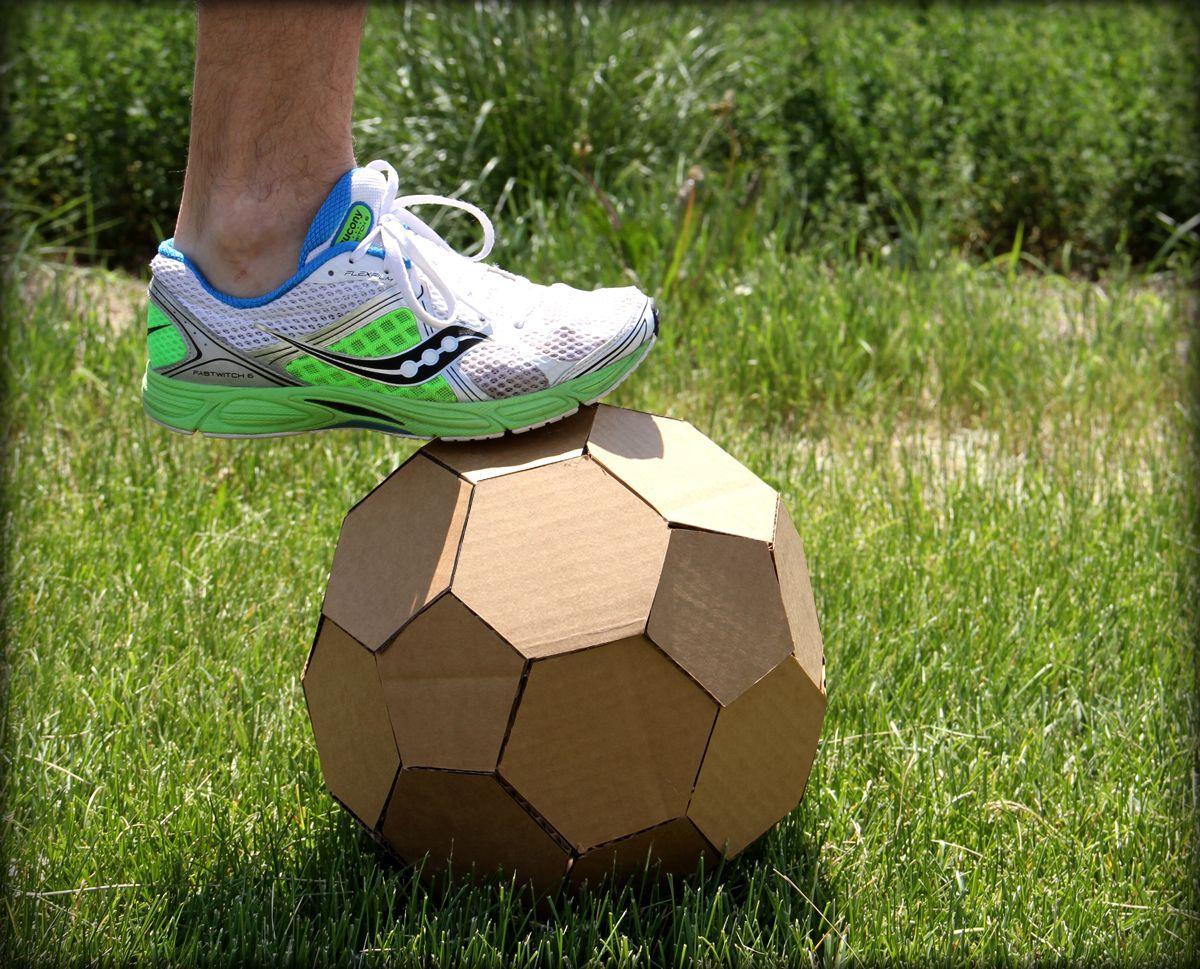 Cardboard Soccer Ball Soccer Ball Soccer Football Diy