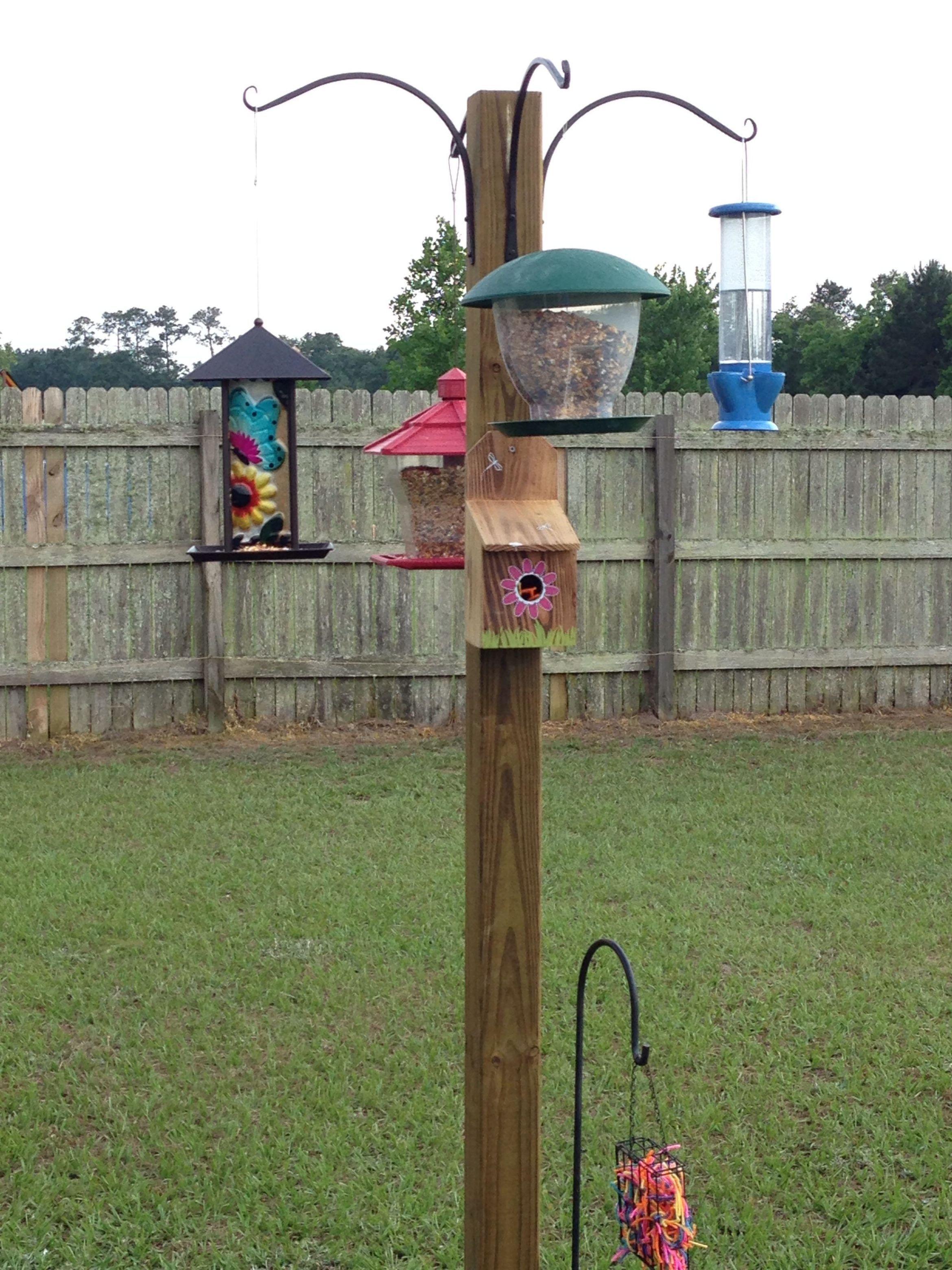 diy bird feeder pole plans