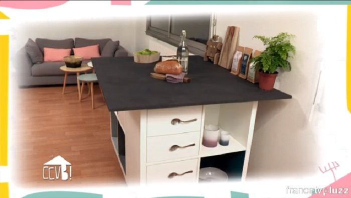 fabriquer un lot de cuisine triple fonction rubriques comment a va bien france 2 diy. Black Bedroom Furniture Sets. Home Design Ideas
