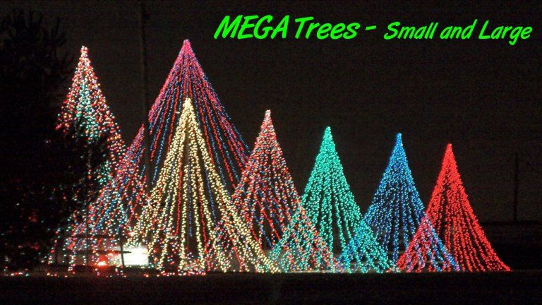 How to make the ultimate christmas light feature the mega tree if you are looking for the ultimate centerpiece for your christmas display look no further than the mega tree since you design and build them yourself aloadofball Image collections