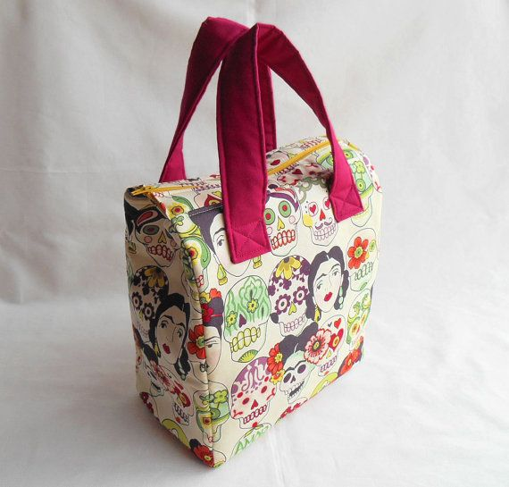 Insulated Lunch Bag PDF Pattern, Tote Bag Sewing Pattern, Lunch Bag ...
