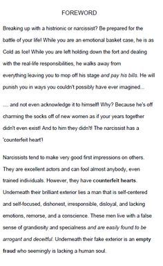 Narcissist A How To Up Break Man With