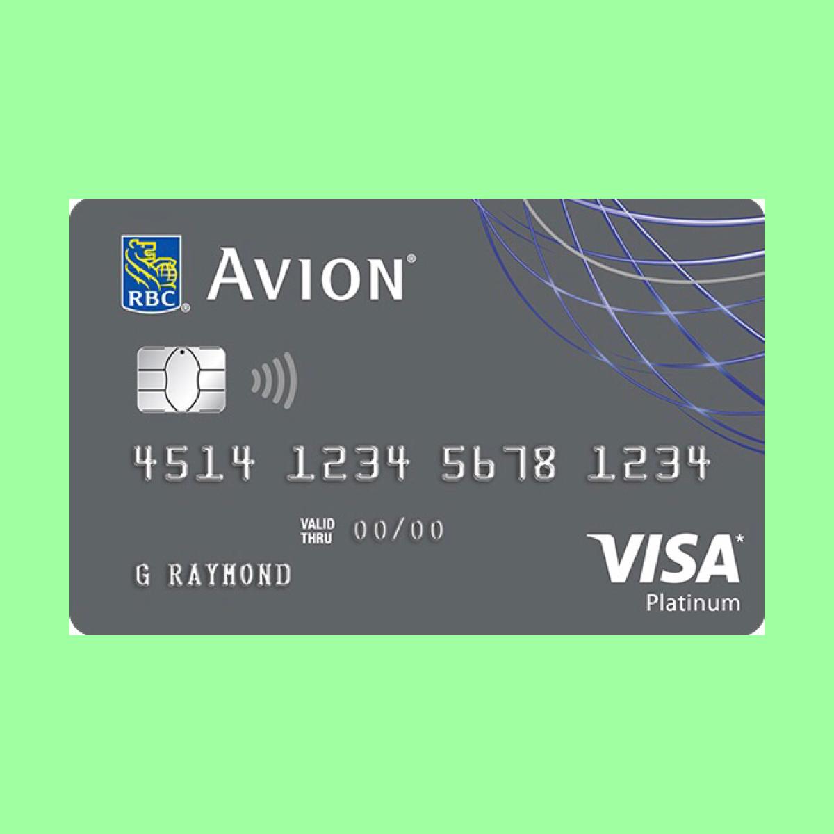 Rbc Avion Visa Platinum Card The Point Calculator Visa Platinum Card Visa Platinum Credit Card Points