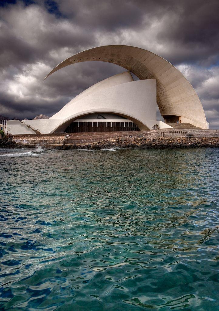 Santa Cruz de Tenerife Auditorium by Calatrava | Canary Islands ...