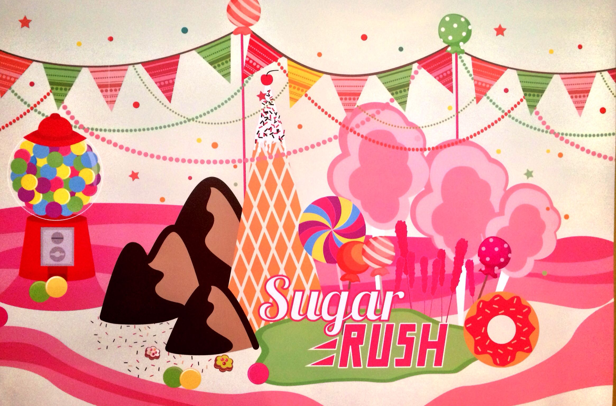 "Sugar Rush Party - Basic Graphics from ""Wants & Wishes""."