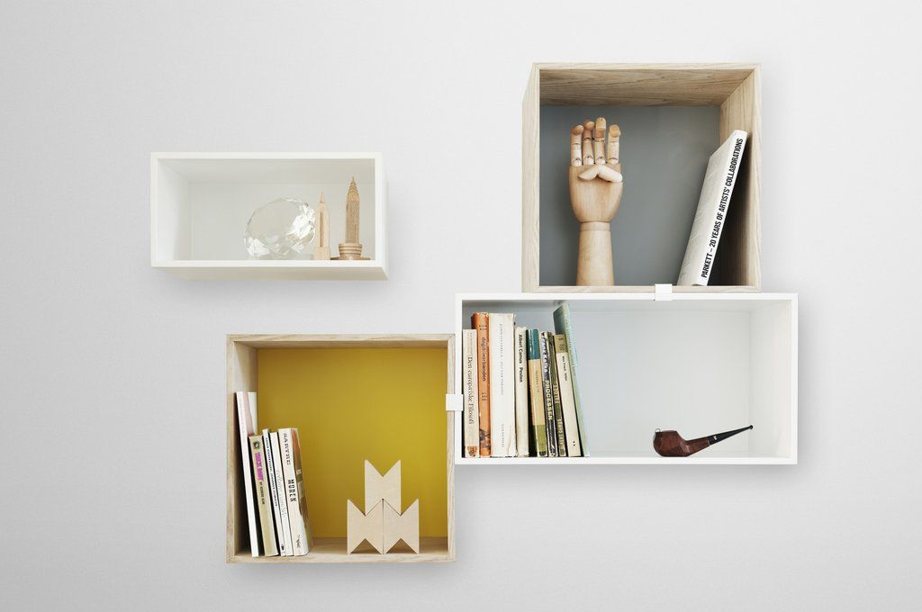 Mini Stacked Wall Hung Shelf System By Muuto Muuto Stacked Shelves Box Shelves