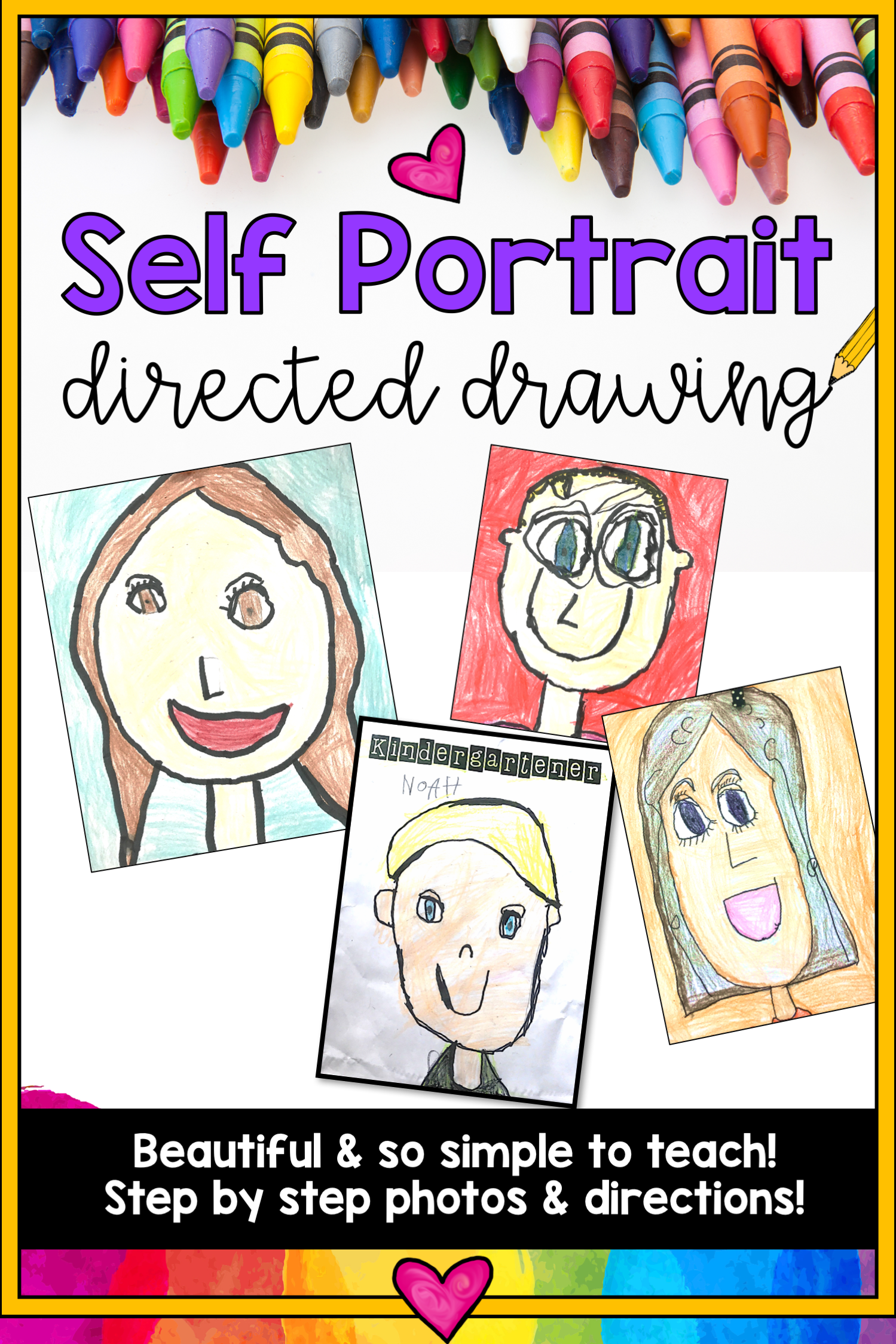 Self Portrait Directed Drawing Project Classic Best
