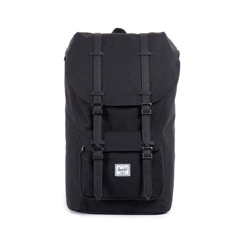 Herschel Supply Co Little America Authentic Backpack Bag Black Black Pu Herschel Supply Co Backpack Black Backpack Herschel Backpack
