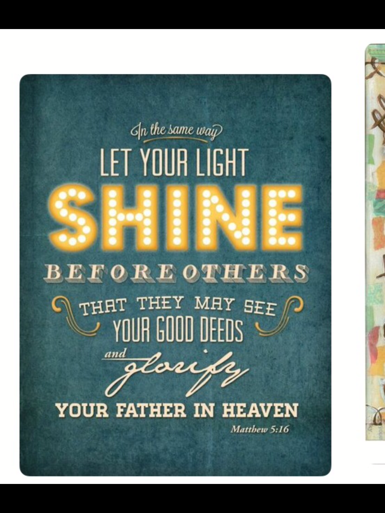 Matthew 516 Let Your Light So Shine Before Men That They May See