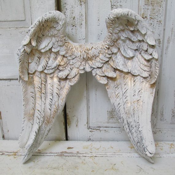 Large angel wings wall sculpture hand painted by AnitaSperoDesign, $284.00