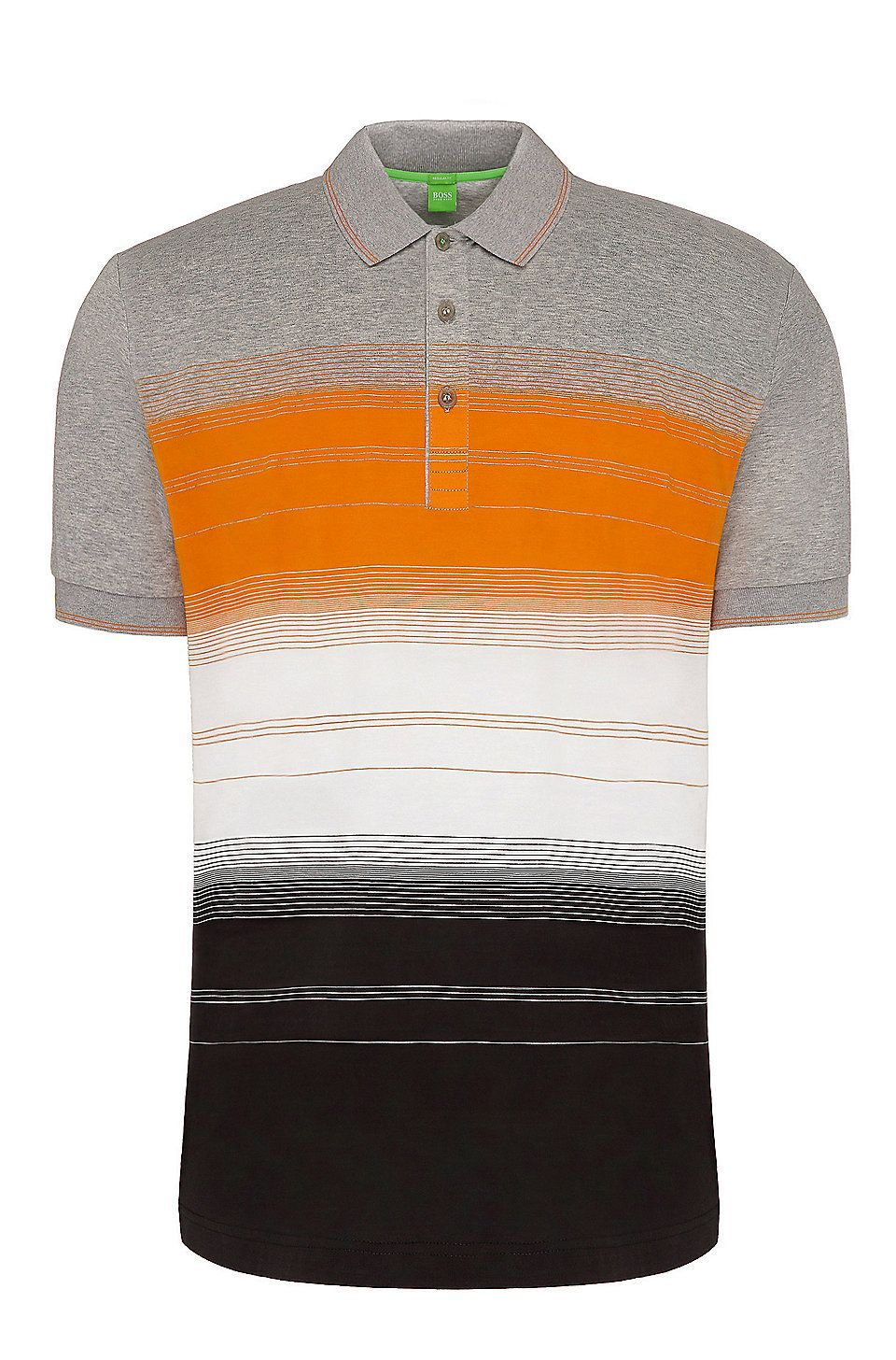 4a4dceeb Regular-fit cotton polo shirt with stripes: 'Paddy 3' Light Grey from BOSS  Green for Men for £99.00 in the official HUGO BOSS Online Store free  shipping