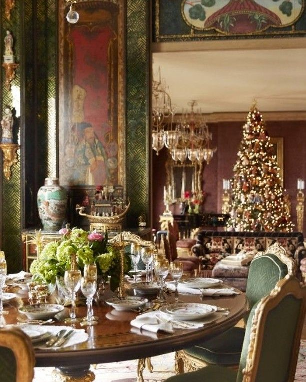 Christmas Decorations In Switzerland: The Beyond Beautiful Home Of Ann Gettycourtesy Of Veranda