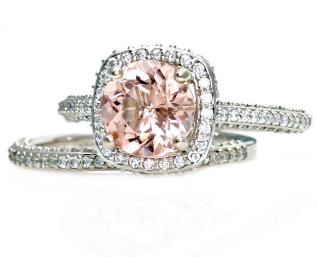 It's all about the Morganite and diamonds