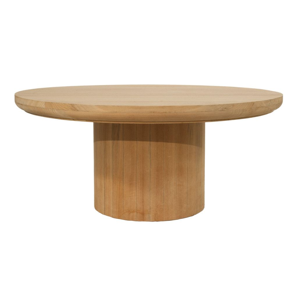 3005 Dal Round Outdoor Coffee Table In Teak Round Wood Coffee Table Coffee Table Wood Round Coffee Table