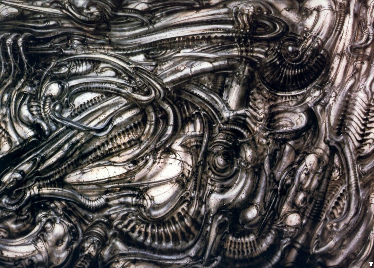 Hr giger tattoo designs - Hans R Di Giger Biomechanical Landscape Ii No 417