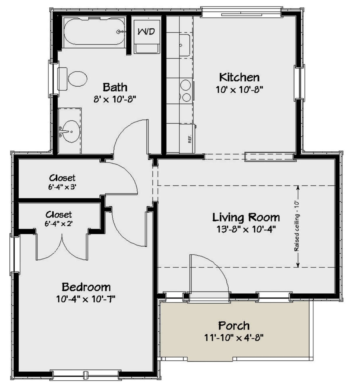 House Plan 1502 00002 Cottage Plan 550 Square Feet 1 Bedroom 1 Bathroom In 2020 Tiny House Floor Plans Cottage Floor Plans House Plans