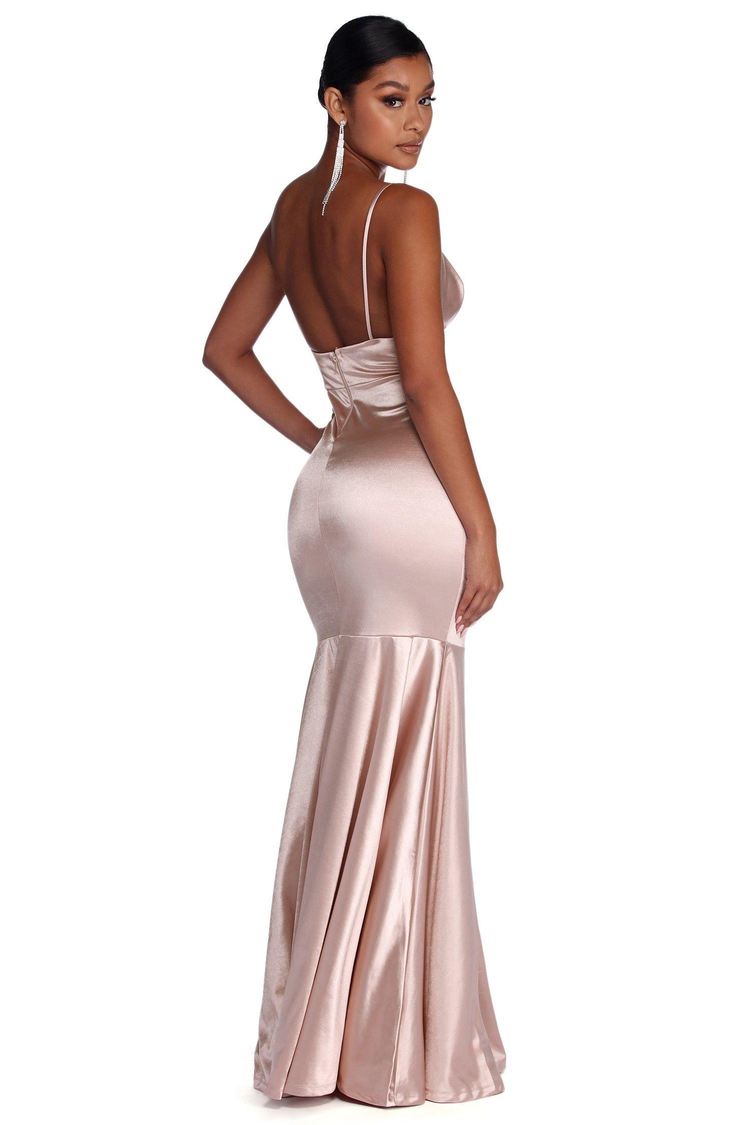 Isabel Pink Formal Satin Mermaid Dress Dresses Mermaid Dresses Ball Gowns [ 2247 x 1500 Pixel ]