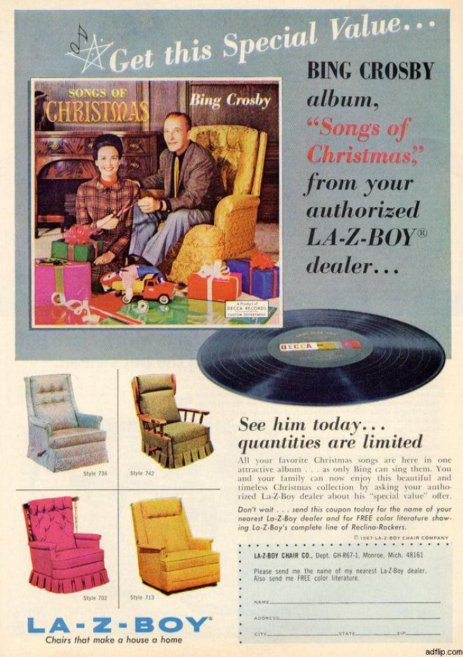 furniture ads la z boy vintage furniture