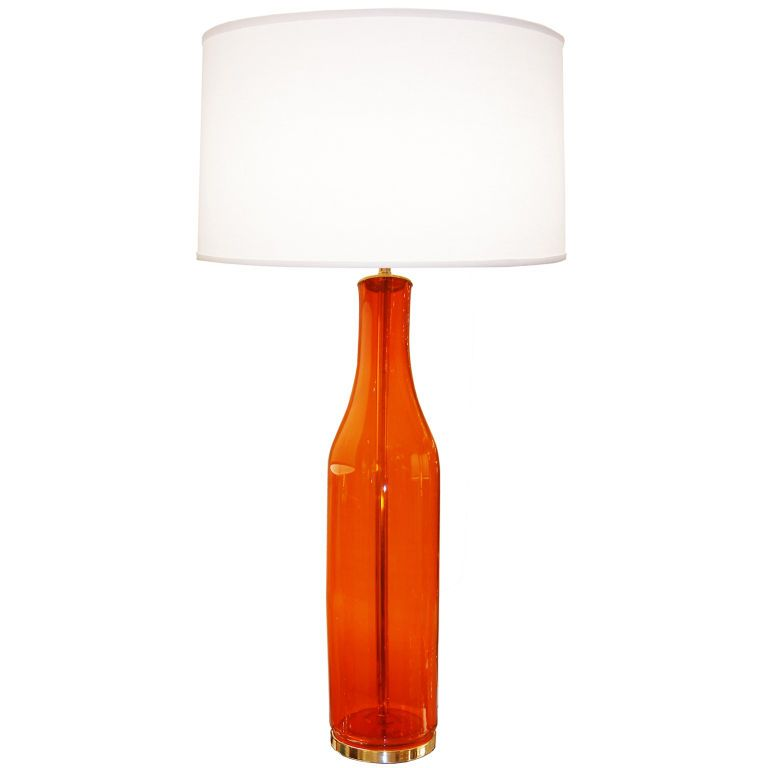 Marvelous Blenko Large Orange Glass Lamp | From A Unique Collection Of Antique And  Modern Table Lamps