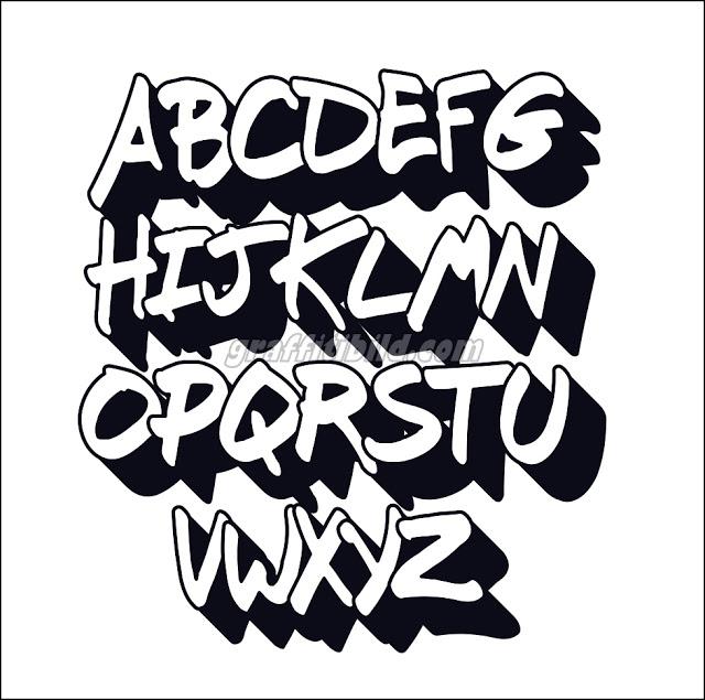 graffiti abc buchstaben vorlagen  graffiti buchstaben