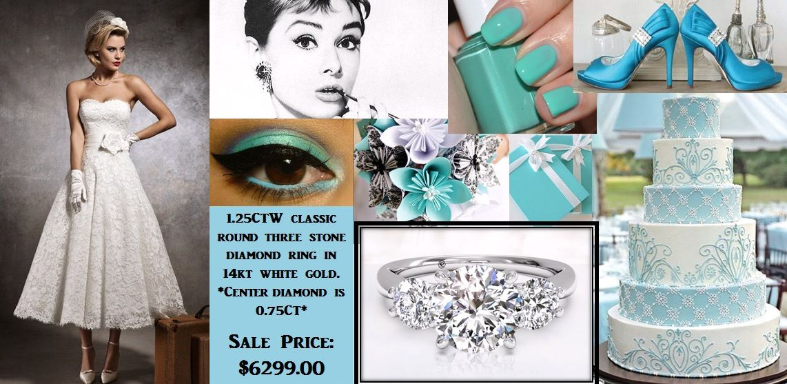 Artisan Jewelers' Audrey Hepburn inspired wedding board!
