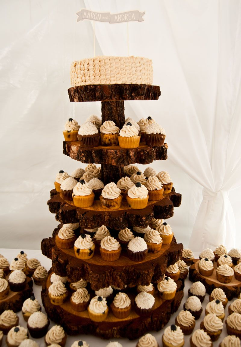Rustic Cupcake Tower Wedding Cupcakes Mammoth Lakes