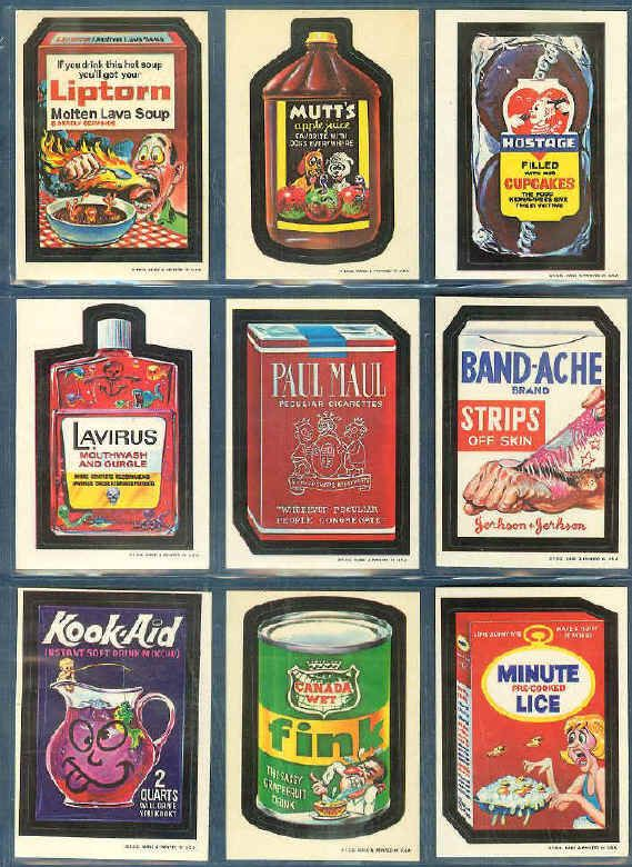 Wacky package stickers fun to collect used to get from the
