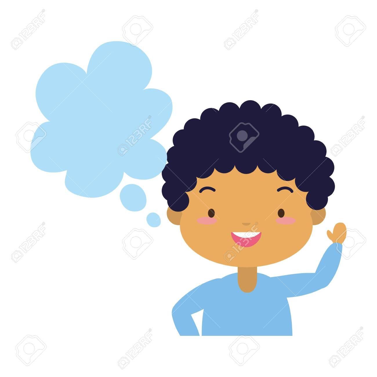 school boy speech bubble white background vector illustration , #AD, #speech, #bubble, #school, #boy, #vector