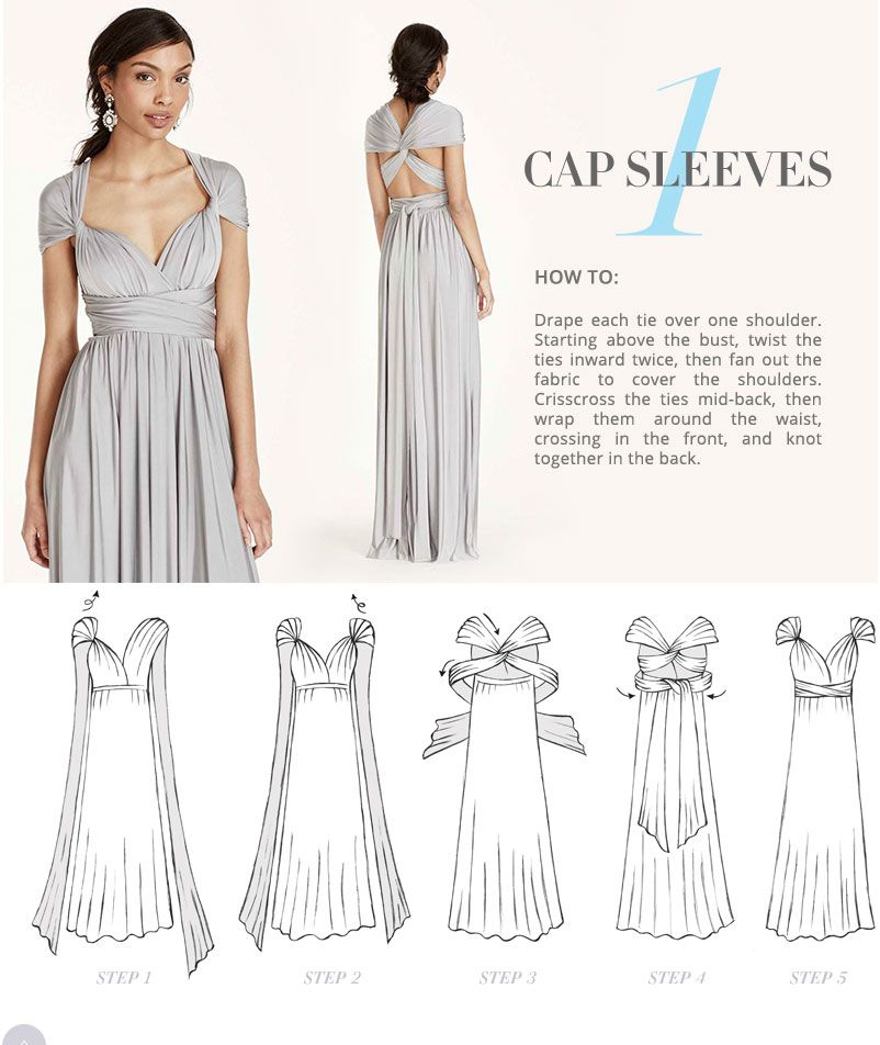 Versa Convertible Infinity Bridesmaid Dress In Lustrous Jersey
