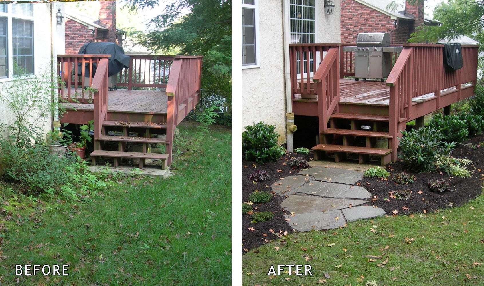 Short Walkway Before After Need To Do This At The Bottom