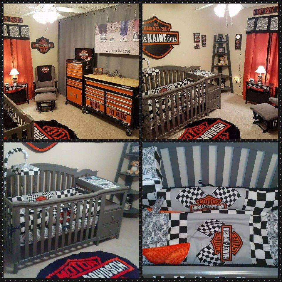 Harley Davidson Nursery   Boy   Pinterest
