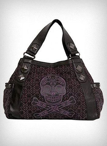 d4a491167935 WANT! Purple Tweed Sugar Skull Bag my bday is coming up. Hint hint ...