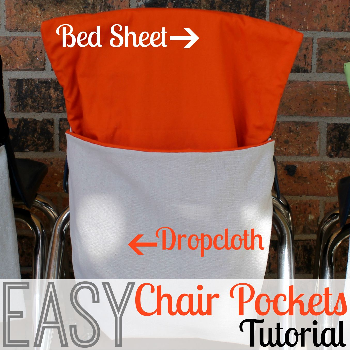 Homemade Classroom Chair Pockets