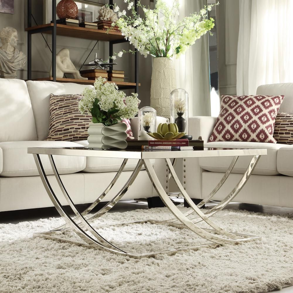 Melrose Glass And Chrome Contemporary Coffee Table Black Grey Glass Coffee Tables Living Room Living Room Coffee Table Coffee Table [ 1000 x 1000 Pixel ]