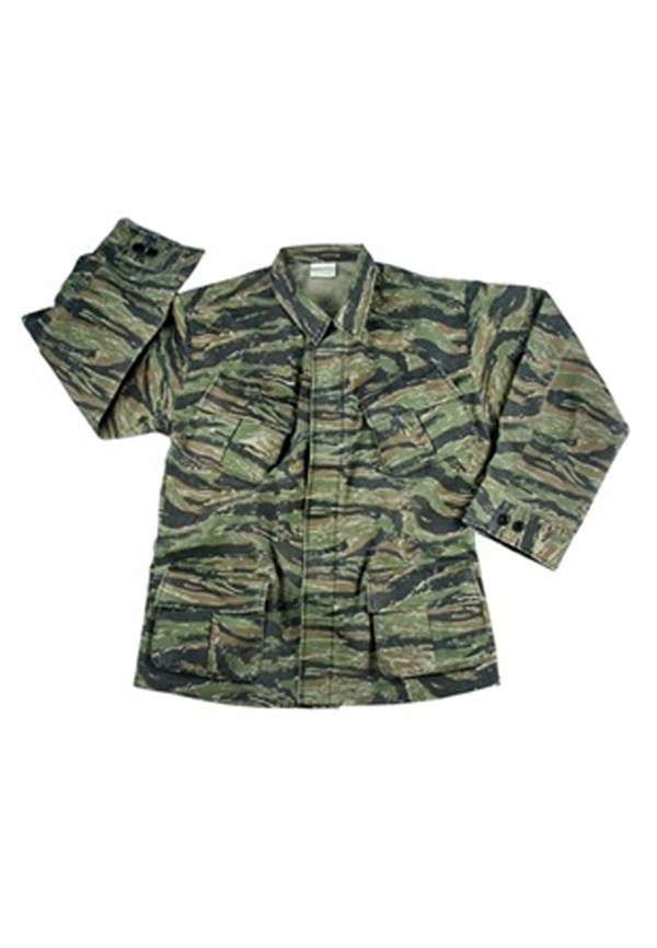 Vintage Tiger Stripe Vietnam Era Fatigue Shirt fb48323696d
