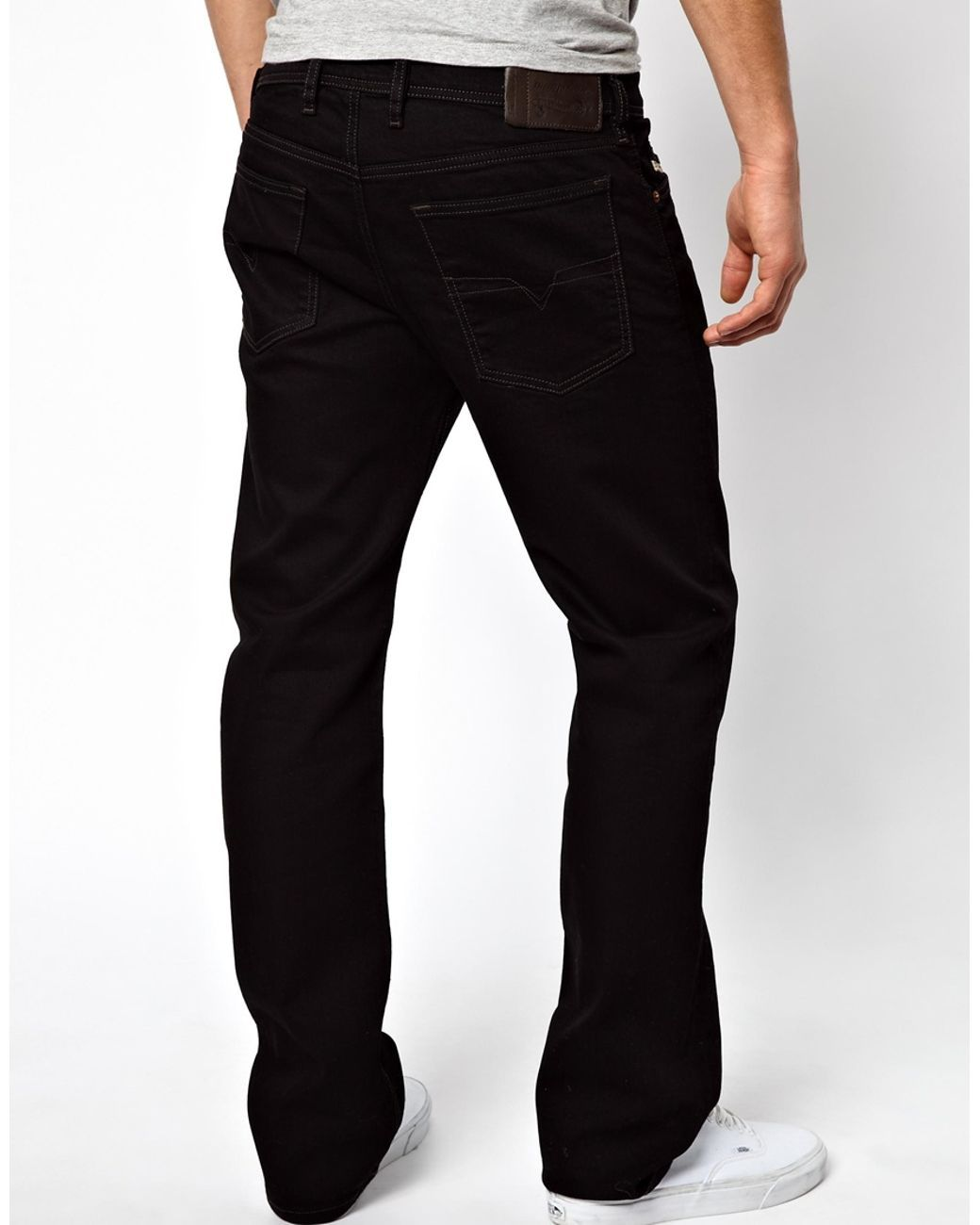 DIESEL | Jeans Waykee 886z Straight Fit Black for Men | Lyst